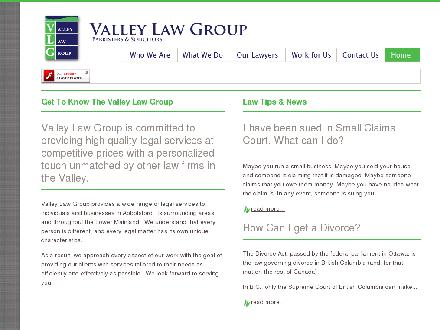 Valley Law Group (604-852-5307) - Onglet de site Web - http://www.valleylawgroup.com