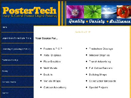 PosterTech Digital Printing Services Inc (780-413-4862) - Website thumbnail - http://www.postertech.com