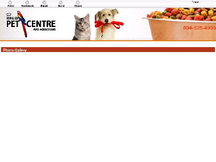 King Ed Pet Centre Ltd (604-525-4955) - Onglet de site Web - http://kingedpet.com/