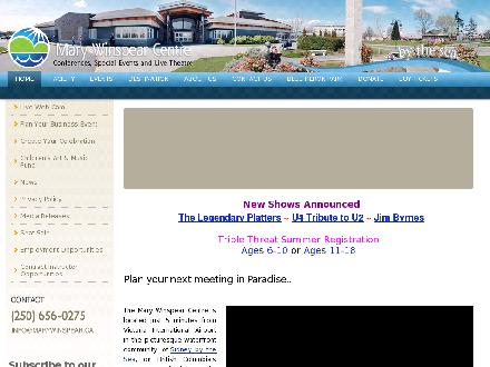 Mary Winspear Centre (250-652-7489) - Website thumbnail - http://www.marywinspear.ca