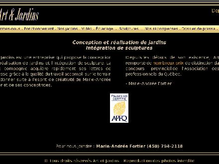 Art &amp; Jardins inc (450-794-2118) - Onglet de site Web - http://www.artetjardins.com