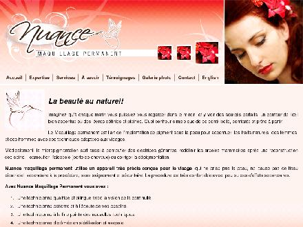 Nuance Permanent Make-Up (819-923-5769) - Onglet de site Web - http://www.nuance-maquillage-permanent.com/