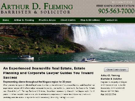 Fleming Arthur D (905-563-7000) - Onglet de site Web - http://www.arthurdfleming.com/