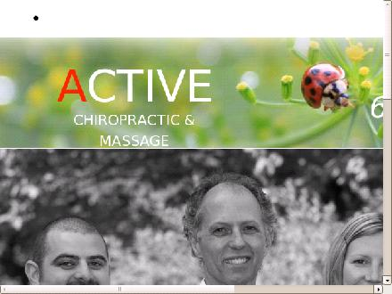 Active Chiropractic & Massage (604-986-7304) - Website thumbnail - http://www.back2active.me