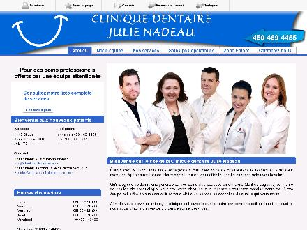 Clinique Dentaire Julie Nadeau (450-469-4455) - Website thumbnail - http://dentistestcesaire.com/