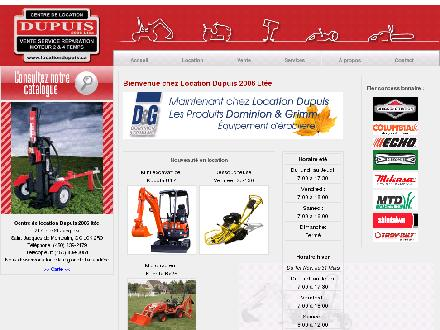 Centre De Location Dupuis 2006 Lt&eacute;e (450-839-2179) - Website thumbnail - http://www.locationdupuis.ca