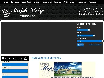 Maple City Marine Ltd (519-354-3640) - Website thumbnail - http://www.maplecitymarine.com