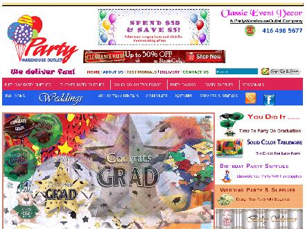 Party Warehouse Outlet (647-931-9449) - Website thumbnail - http://www.partywarehouseoutlet.com