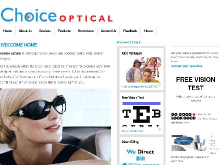 Choice Optical Ltd (403-568-3937) - Onglet de site Web - http://www.choiceoptical.com