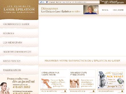 Cliniques Laser Epilation Inc (Les) (418-621-5552) - Website thumbnail - http://www.laserepilation.ca