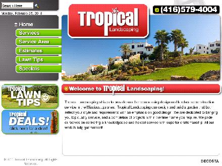Tropical Landscaping (647-495-8541) - Website thumbnail - http://www.gotropical.ca