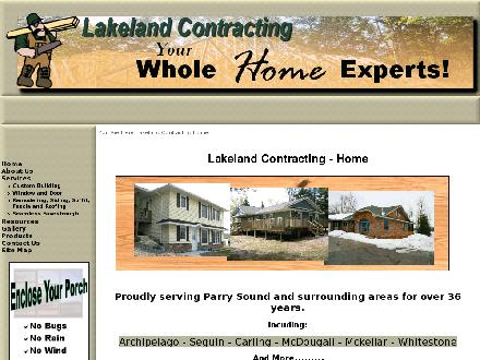 Lakeland Contracting (705-378-0544) - Website thumbnail - http://www.lakelandcontracting.com