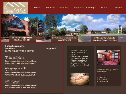 Motel Id&eacute;al (514-389-8434) - Onglet de site Web - http://www.motelideal.com