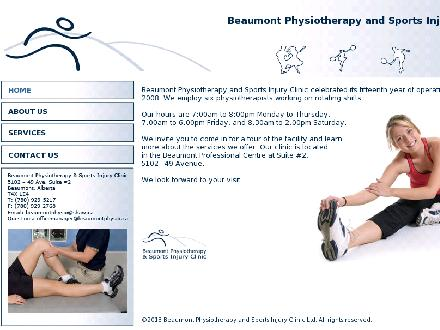 Beaumont Physiotherapy & Sports Injury Clinic Ltd (780-929-5217) - Website thumbnail - http://www.beaumontphysio.ca