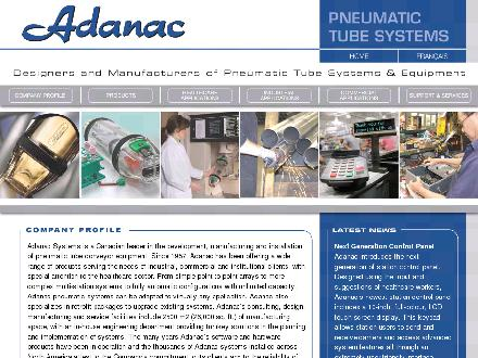 Adanac Air Tube Systems Co (450-671-1216) - Website thumbnail - http://www.adanacsystems.com