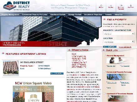 District Realty (613-759-8383) - Onglet de site Web - http://www.districtrealty.com