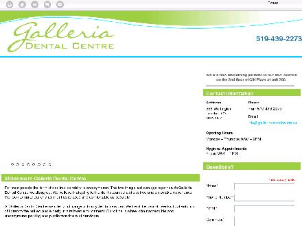 Galleria Dental Centre (519-439-2273) - Onglet de site Web - http://galleriadentalcentre.ca/