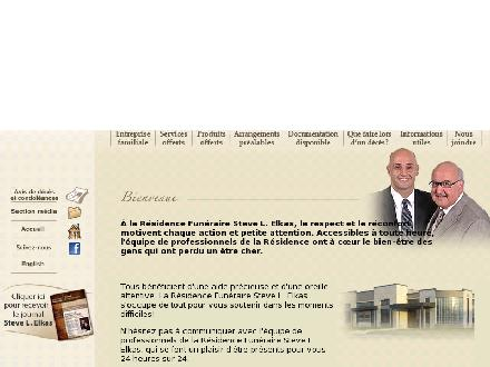 Steve L Elkas Funeral Home (819-416-0747) - Website thumbnail - http://www.steveelkas.com