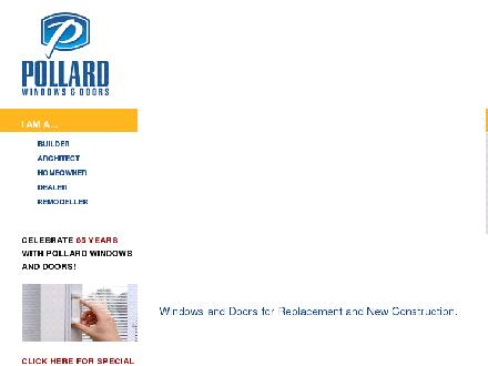 Pollard Windows Inc (1-800-585-5561) - Website thumbnail - http://www.pollardwindows.com