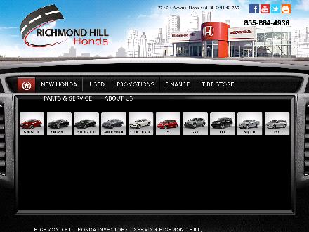 Richmond Hill Honda (905-731-8899) - Website thumbnail - http://www.richmondhillhonda.com