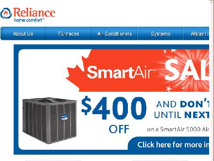 Reliance Home Comfort (416-756-8947) - Website thumbnail - http://www.reliancehomecomfort.com