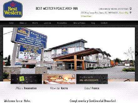 Best Western Peace Arch Inn (604-541-8100) - Onglet de site Web - http://www.bestwesternpeacearchinn.com