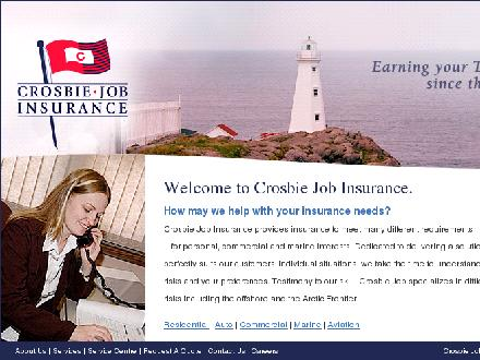 Crosbie Job Insurance Limited (1-888-586-6494) - Onglet de site Web - http://www.crosbiejob.com
