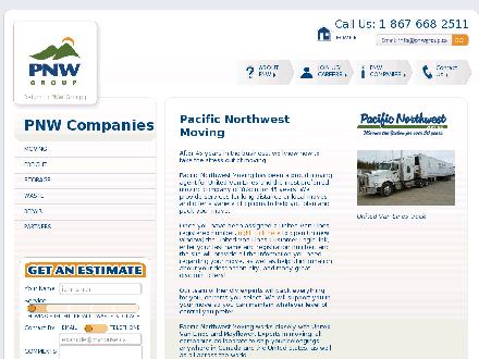 Pacific Northwest Moving (Yukon) Ltd (867-668-2511) - Onglet de site Web - http://www.pnwgroup.ca/companies/moving.html