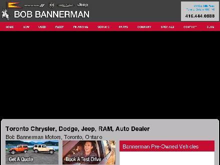 Bannerman Bob Chrysler Dodge Jeep (416-444-0888) - Website thumbnail - http://www.bobbannerman.com