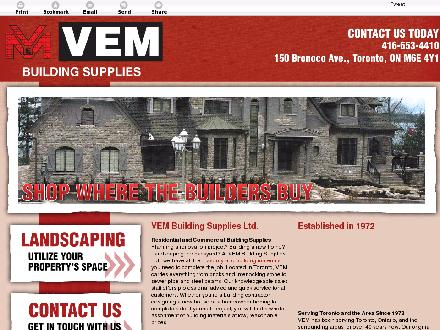 Vem Building Supplies Ltd (647-497-6797) - Website thumbnail - http://vembuildingsupplies.com/