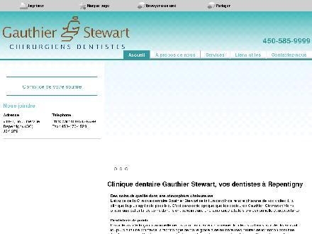 Clinique Dentaire Gauthier Stewart (450-585-9999) - Website thumbnail - http://cliniquedentairegauthierstewart.ca