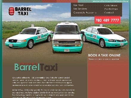 Barrel Taxi (780-392-9850) - Website thumbnail - http://www.barreltaxi.ca