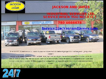 Jackson &amp; James Overhead Door Services (780-466-6678) - Website thumbnail - http://www.jacksonandjames.com