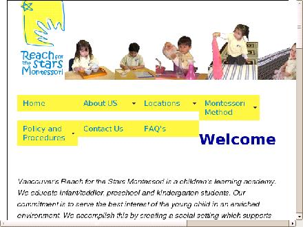 Reach For The Stars Montessori (604-688-7827) - Onglet de site Web - http://www.montessoristar.com