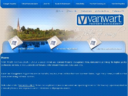 VanWart Management Ltd (506-457-7001) - Onglet de site Web - http://www.vanwart.nb.ca