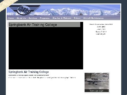 Springbank Air Training College (403-288-7700) - Onglet de site Web - http://www.springbankair.com