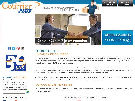 Courrier Plus (514-521-0775) - Website thumbnail - http://www.courrierplus.com