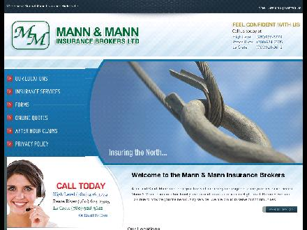 Mann & Mann Insurance Brokers Ltd (780-624-2505) - Website thumbnail - http://www.mann-mann.ca