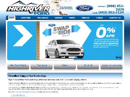 Ranchland Ford Sales Inc (403-652-2134) - Website thumbnail - http://www.ranchlandford.com
