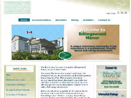 Billingswood Manor Inc (613-731-8448) - Onglet de site Web - http://www.billingswoodmanor.com