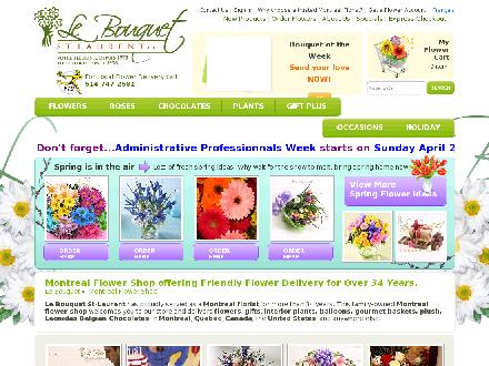 Le Bouquet St Laurent Inc (514-747-2581) - Onglet de site Web - http://www.lebouquet.com