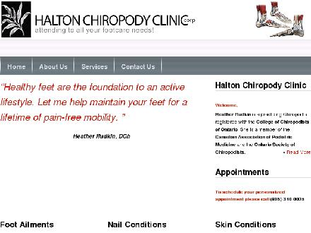 Halton Chiropody Clinic (905-340-0025) - Onglet de site Web - http://www.haltonchiropodyclinic.com