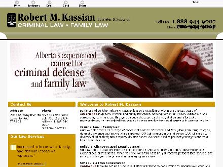 Kassian Robert M (780-412-1800) - Website thumbnail - http://www.boblaw.ca