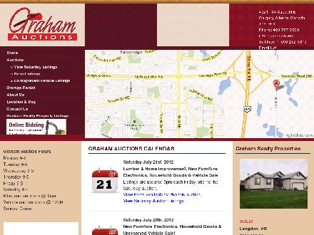 Graham Auctions (403-777-9393) - Website thumbnail - http://www.grahamauctions.com