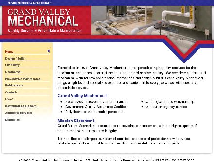 Grand Valley Mechanical (204-727-2333) - Onglet de site Web - http://www.gvmech.ca