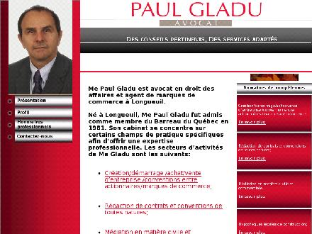 Gladu Paul (450-651-9797) - Website thumbnail - http://www.avocatpaulgladu.ca
