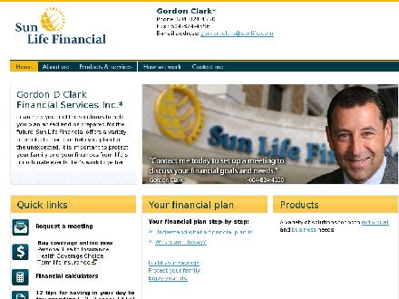 Gordon D Clark Financial Services Inc (604-824-4550) - Onglet de site Web - http://www.sunlife.ca/gordon.clark