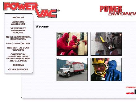 Power Environmental (905-318-0622) - Onglet de site Web - http://www.powervachamilton.ca
