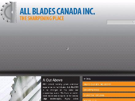 All Blades Canada Inc (780-423-5088) - Website thumbnail - http://www.allblades.ca