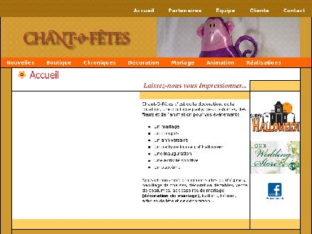 Agence Chant-O-F&ecirc;tes Inc (418-627-1515) - Website thumbnail - http://www.chantofetes.com